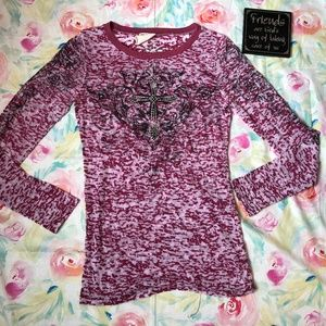 Vocal Long Sleeve Shirt with embellishments Size M
